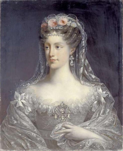 A portrait of Marie-Caroline, duchesse de Berry by Robert Lefevre. 1826.: