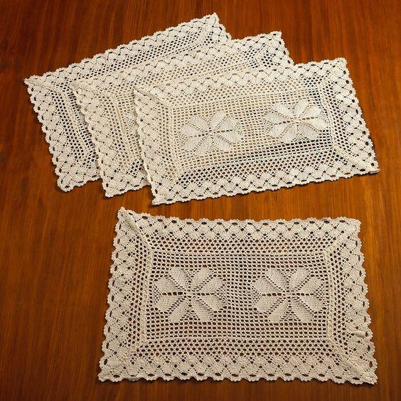 Stars Crochet Vintage Placemat