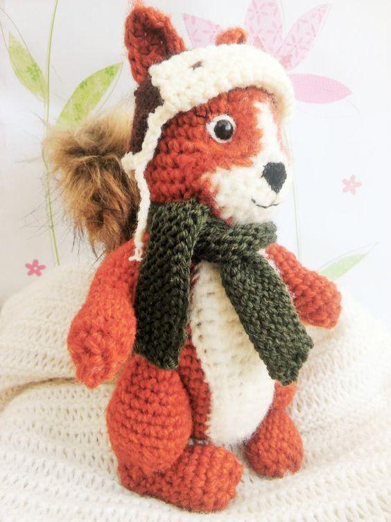 Amigurumi Squirrel Crochet Pattern : Amigurumi, Squirrel and Crochet patterns on Pinterest