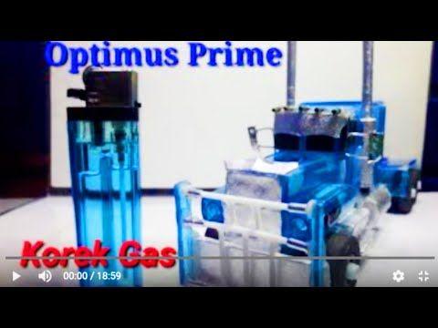 Cara Membuat Mobil Truck Dari Barang Bekas Korek Gas Kreativitas Dari Korek Gas Optimus Prime Car Youtube Mobil Miniatur Kreatif