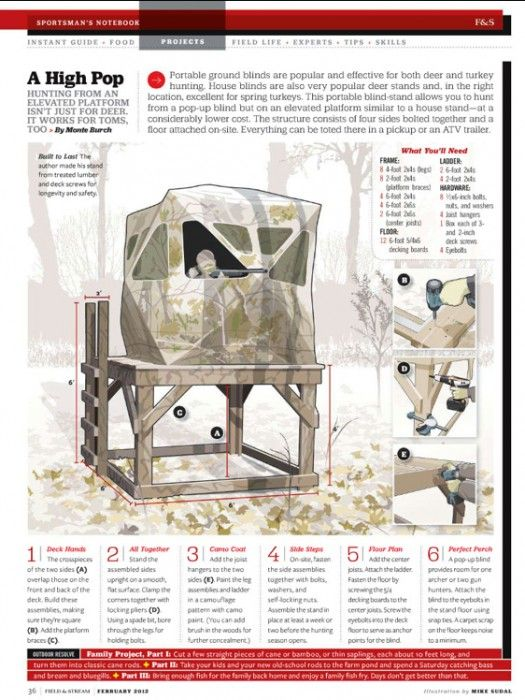 Pinterest the world s catalog of ideas for Elevated hunting blind designs