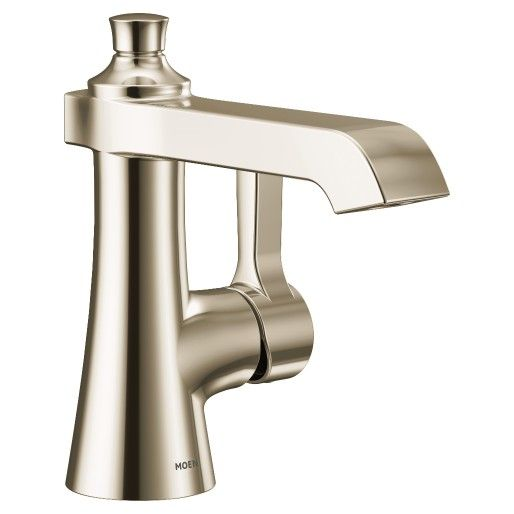 Moen Kingsley Polished Brass One Handle Low Arc Bathroom Faucet