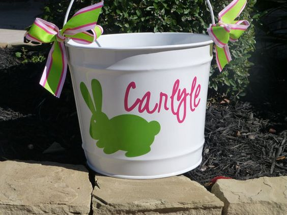 Hey, I found this really awesome Etsy listing at https://www.etsy.com/listing/122151396/personalized-easter-bucket-10-qt