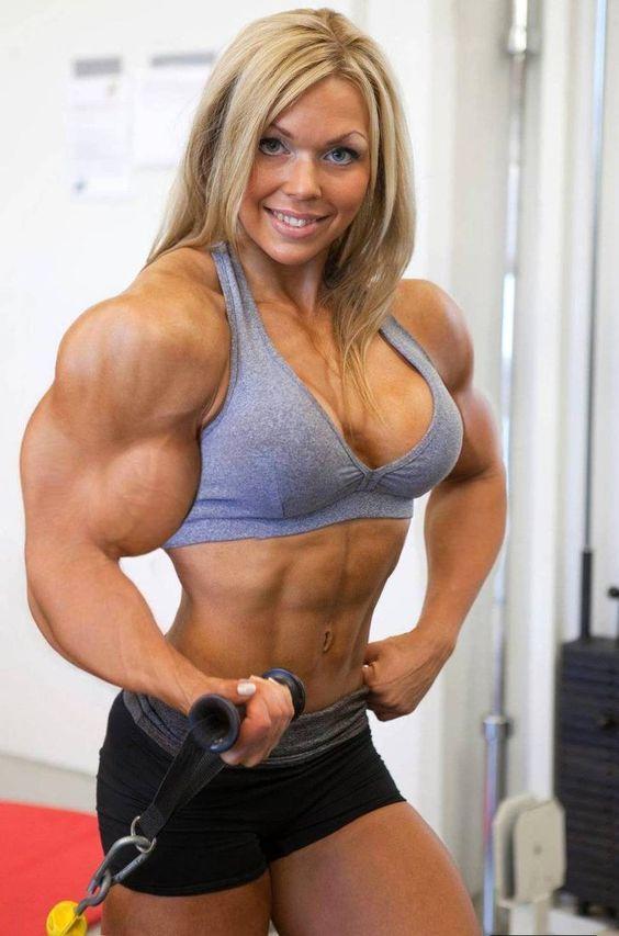 women Blonde muscle