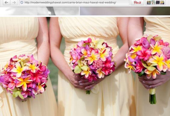 Pretty plumeria bouquets