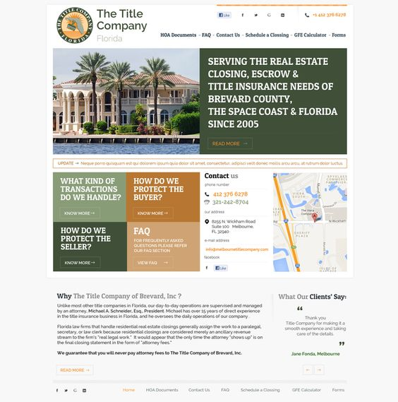 Title Company needs a new landing page by rajesh-rajan