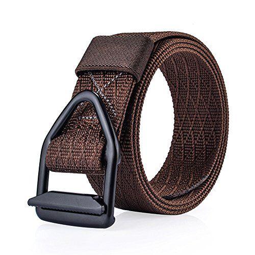 Zzhx Men S Teens Military Style Webbing Fabric Belt D Ring Golf