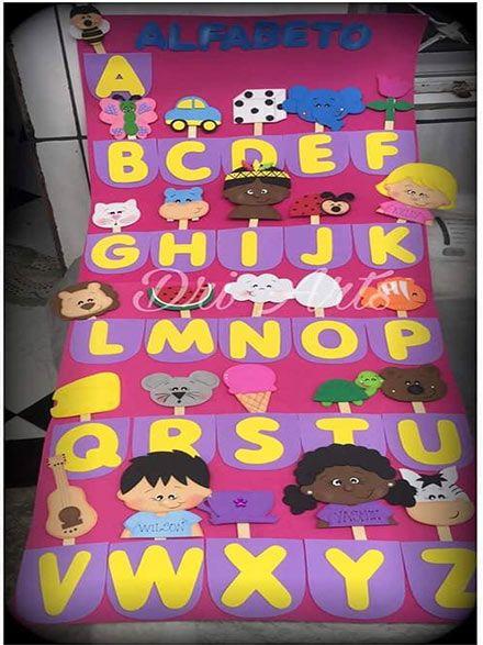 افكار لوحات مدرسية للغة الانجليزية للاطفال وسائل تعليمية بالعربي نتعلم Abc Crafts Preschool Classroom Decor Homeschool Classroom Decor