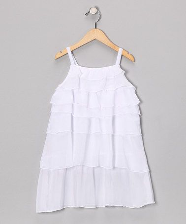 Blanco Visir #Dress from Ginkana Girls on #zulily #ruffles #pretty #girls #kids
