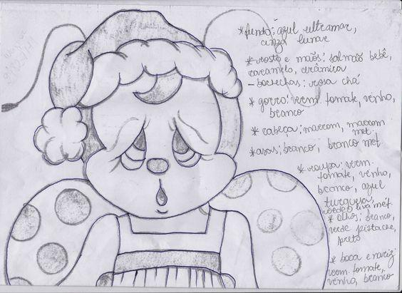 Catia Artes Manuais: JOANINHA PINTADA COM PATCH E RISCO COM CORES PARA O NATAL