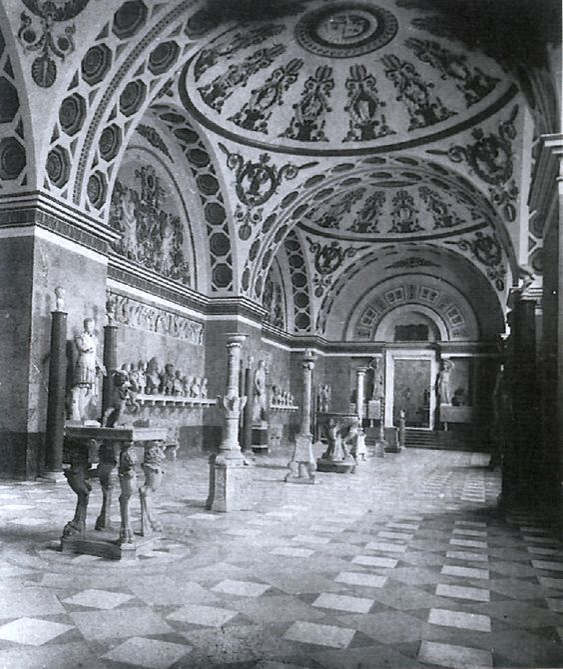 Interior de la Gliptoteca de Munich.  1900