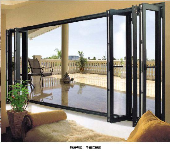 Hot Item Residential Bi Fold Aluminium Windows Thermal Collapsible Windows In 2020 Glass Doors Patio Sliding Glass Doors Patio Folding Glass Patio Doors