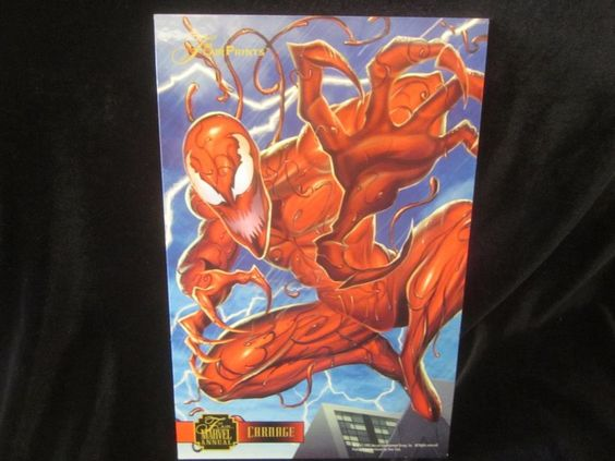 """Marvel Masterprints CARNAGE 1995  PROMO CARD CARD ~NEW 6.5X10""""~MINT CONDITION"""
