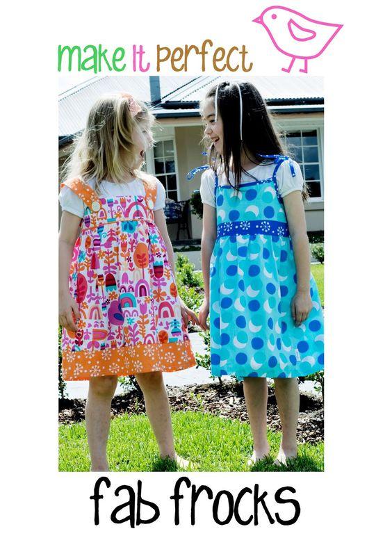 Fab Frocks zijn twee prachtige en toch eenvoudige jurken voor kleine meisjes die willen spelen in stijl. De Swing jurk heeft dunne bandjes vastgebonden op de schouders, terwijl de Party Girl jurk is gemaakt met een dikkere schouderbanden, beveiligd met grote knoppen.