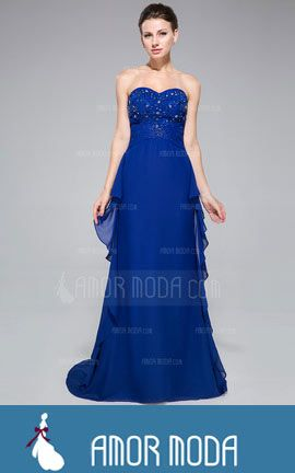 Evening Dress With Beading Appliques Lace Cascading Ruffles  at an affordable price of $158.99 #woman