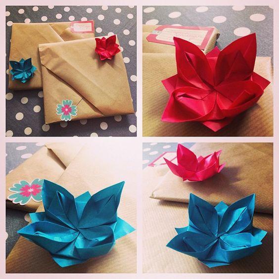 Paquets cadeaux esprit #origami ! #DIY #Papier
