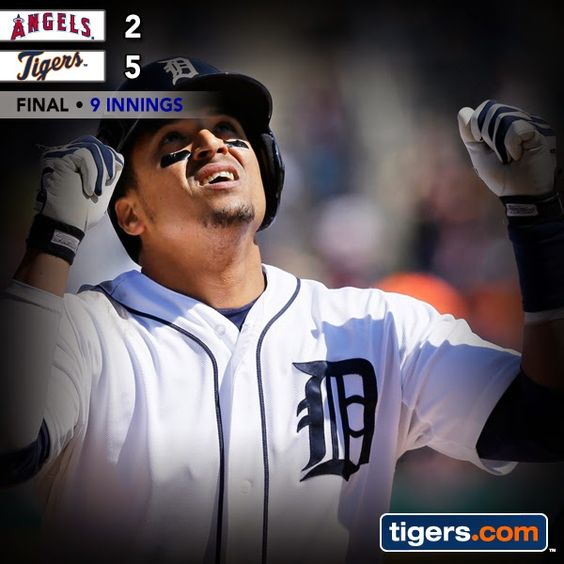 Victor Martinez and Nick Castellanos both homer in Tigers win over Angels. Recap: http://atmlb.com/1i5avat