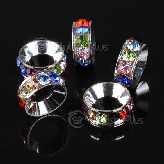 LOVIN these translucent 5 pcs Alloy Crystal Loop Bead Chromatic rings!!!! ❤