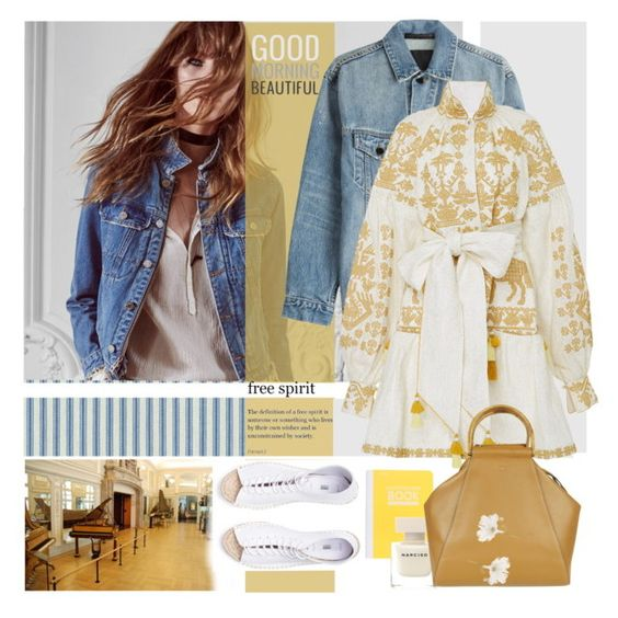 """""""Alexander Wang Denim Jacket"""" by laste-co ❤ liked on Polyvore featuring Waverly, Alexander Wang, Yuliya Magdych, Mead, Narciso Rodriguez, Tory Burch and Accessorize"""