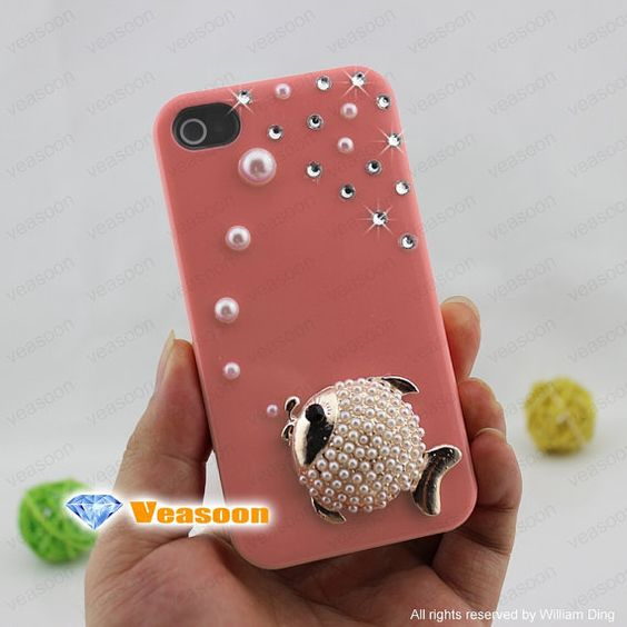 iphone 4 case pink iphone5 case pink fish iphone4 case by Veasoon, $18.99