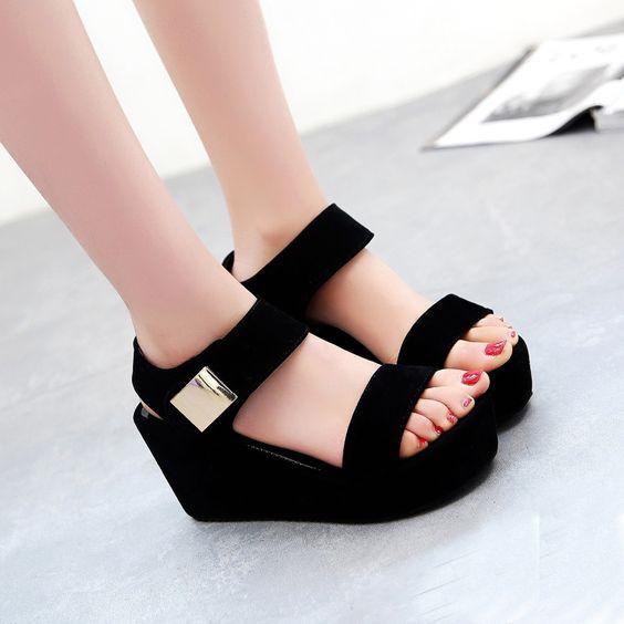 Encontrar Más Sandalias Información acerca de Zapatos de mujer 2015 nueva verano roma mulas Simple Retro Punk sandalias de plataforma de tendencias mujeres acogedoras de zapatillas calado K8, alta calidad Sandalias de Fashion Forward International Trading Co., Ltd. en Aliexpress.com: