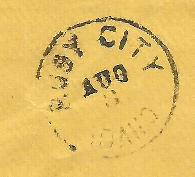 Ruby City, Idaho (pre-1866) Post Office Stamp