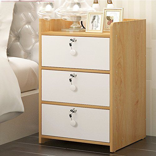 Gfyrhcgdfhjdgvf Modern Simple Bedside Cabinet Solid Wood With Lock