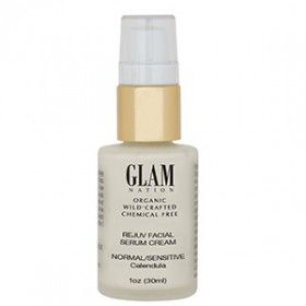 Delicious beauty find: Glam Nation's Rejuv Facial Serum - Calendula. Organic, wild crafted and no yucky chemicals!