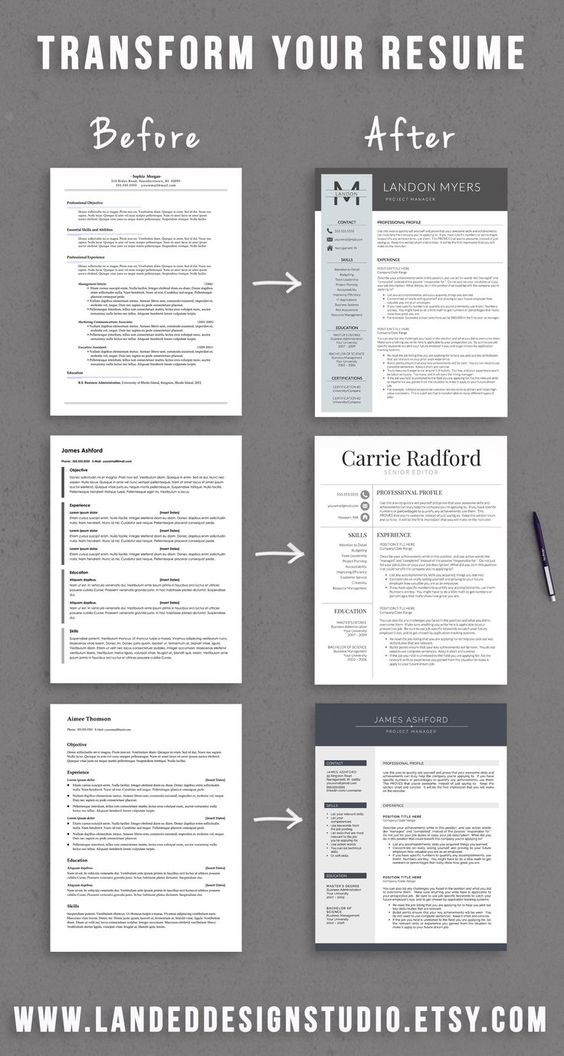 Professional Resume Template Cover Letter for MS Word CV Design - resume services online