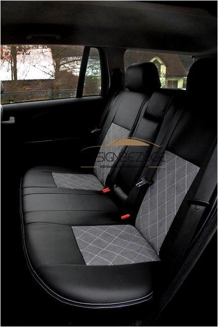 Ford Mondeo Mk3 Rücksitzbank mit passenden Sitzbezügen bezogen. #designbezuege #designbezuege nach maß #Tuning, #Stickerei, #Tuning, #FORD Mondeo,  #Rautenmuster, #Leder,  #Autositzbezüge