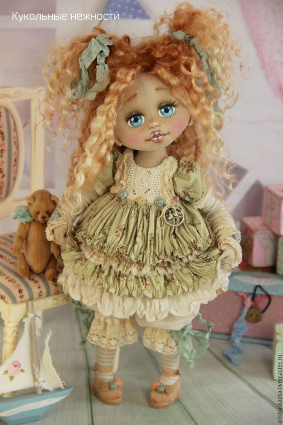 Купить Ляля . Кукла авторская текстильная artdoll - шебби, шебби-шик, шебби шик, бохо: