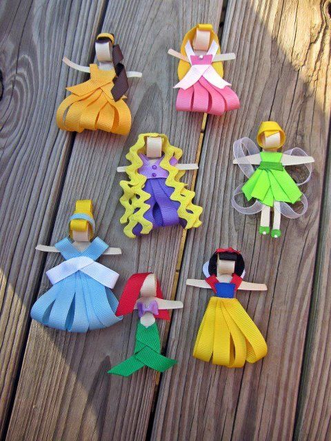 Ribbon princesses. DIY craft for kids These are ADORABLE.