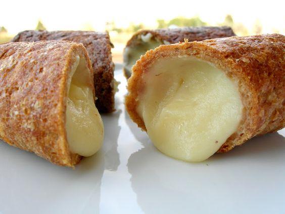 Cannolo di polpetta con ripieno di purè di patate e formaggio asiago