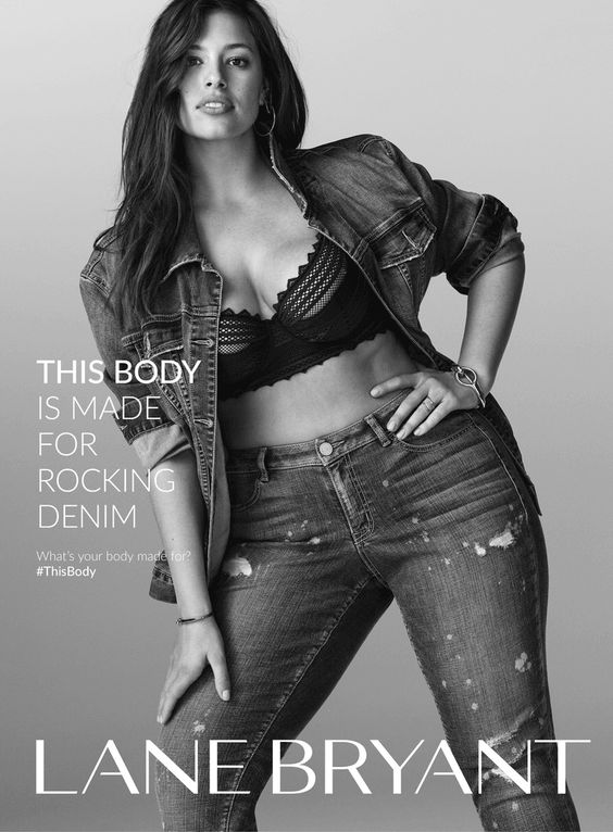 Ashley Graham stars in Lane Bryant's spring 2016 campaign. (Sad that this got banned.):