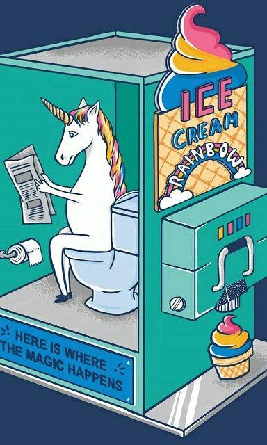 unicorn, rainbow, and ice cream image