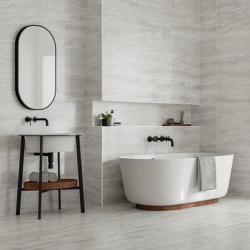 Wickes Co Uk In 2020 Light Grey Bathrooms Bathroom Wall Tile Grey Bathrooms