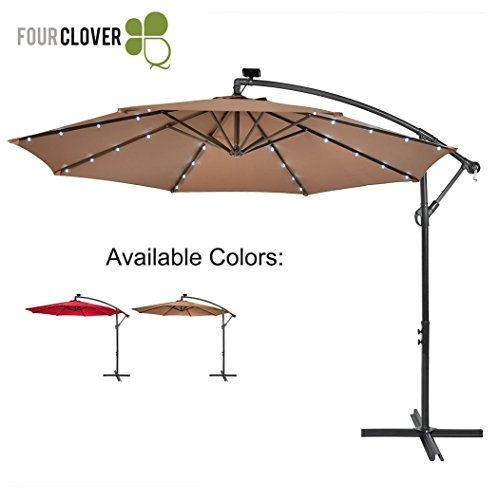 Four Clover 10 Ft Deluxe Solar 32 Led Lighted Patio Umbre Https Www Amazon Com Dp B07529jdjg Ref Cm Sw R Pi Dp U X Mg Patio Patio Umbrella Garden Umbrella