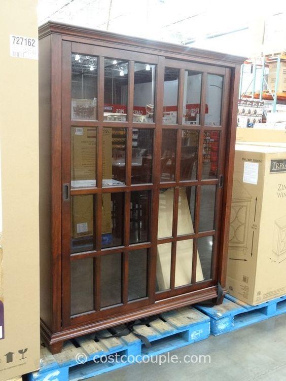 Ski Chelsea Sliding Door Bookcase Costco China Cabinet