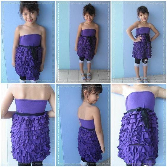 Ruffle Strapless Sun Dresses For Little Girls - Pinterest - Sun ...