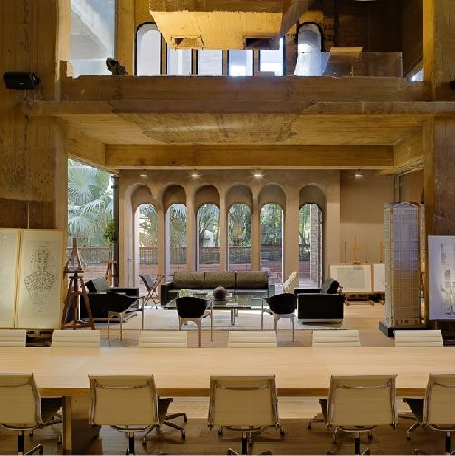 How Ricardo Bofill transformed a factory into his home and office? In 1973 Ricardo Bofill found an abandoned cement factory, an industrial complex from the turn of the century. He decided to transform it into the head office of taller de arquitectura. The remodeling work lasted two years. Image credit: nurpages.wordpress.com