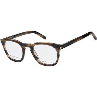 Saint Laurent Brown & Black Marbled Preppy Optical Frames