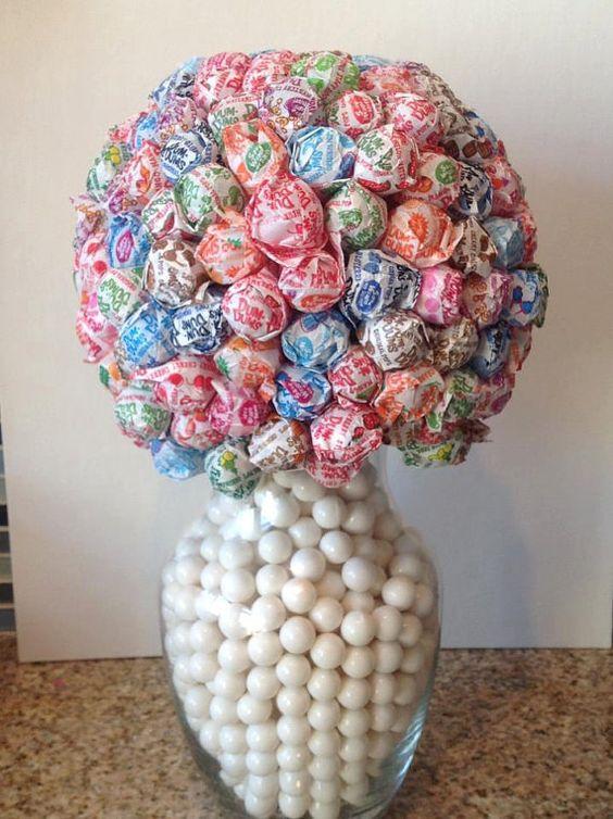 Dum Dum Lollipop Flower Ball Vase Candy Centerpiece Wedding Decor Wedding Centerpieces Table