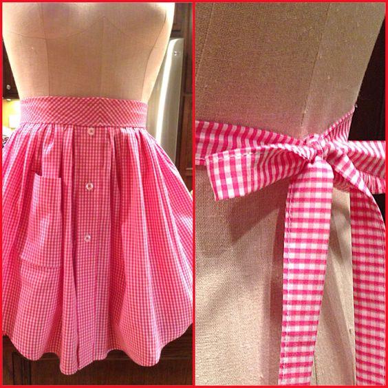 Repurposed men's dress shirt into an apron  By cjBlue www. cjbluecompany.com