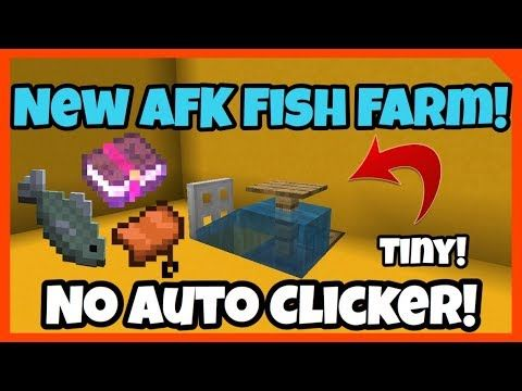 New Best Afk Fish Farm 2019 1 12 0 1 14 Bedrock Edition Java Edition Ps4 Youtube Fish Farming Minecraft Minecraft Creations