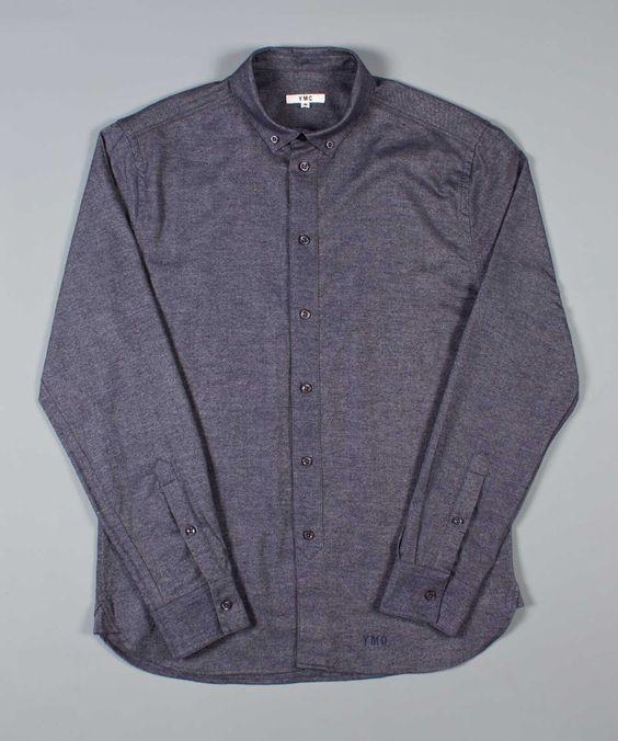 YMC at Weavers Door | AW14 | YMC | Shirts | Button Down Shirt | Indigo | £89.99