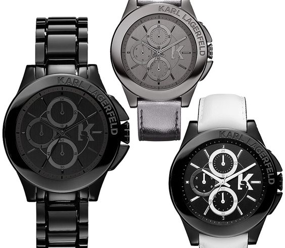 If It's Hip, It's Here: Karl Lagerfeld's New Watch Collection (All Of Them) For Men and Women.