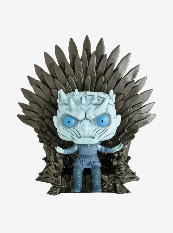 Funko Pop! Game Of Thrones Night King On Iron Throne Deluxe Vinyl Figure,