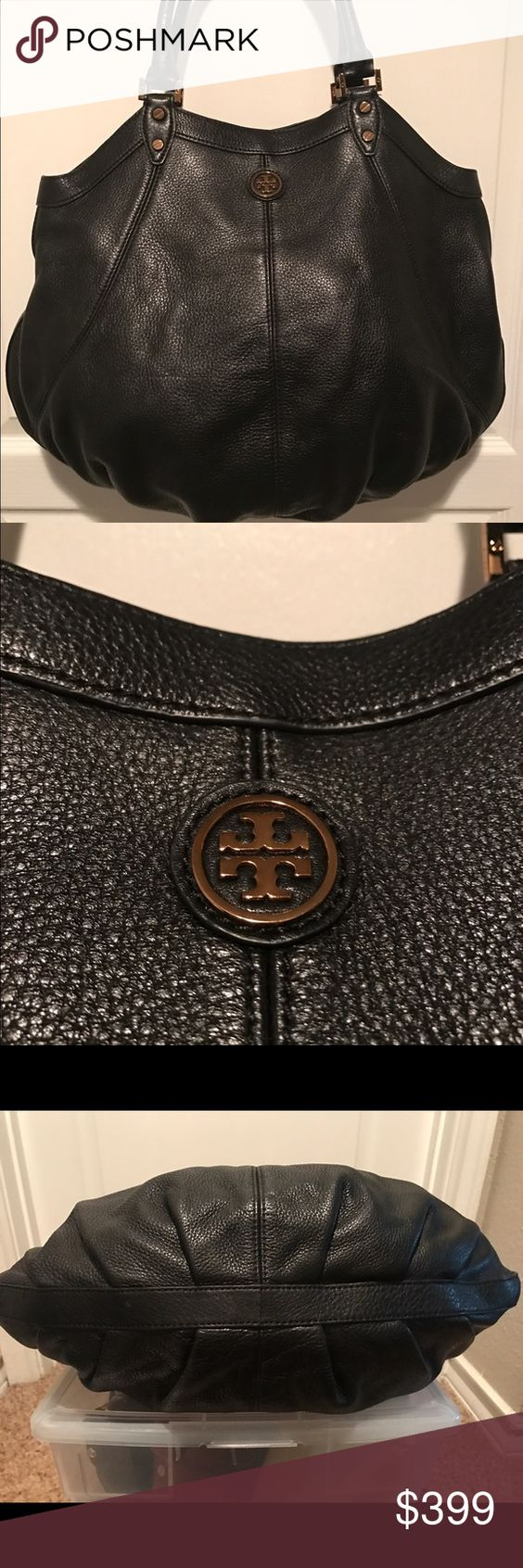 Tory Burch Brand New Hobo Pebbled Leather Bag Tory Burch Brand New Hobo Pebbled Leather Bag Never Used from my sister in Laws collection although many have the original price tags this one does not.  She stored all of her collection in lucite drawers for easy visibility Tory Burch Bags Hobos