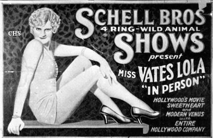 Schell Bros.Circus poster