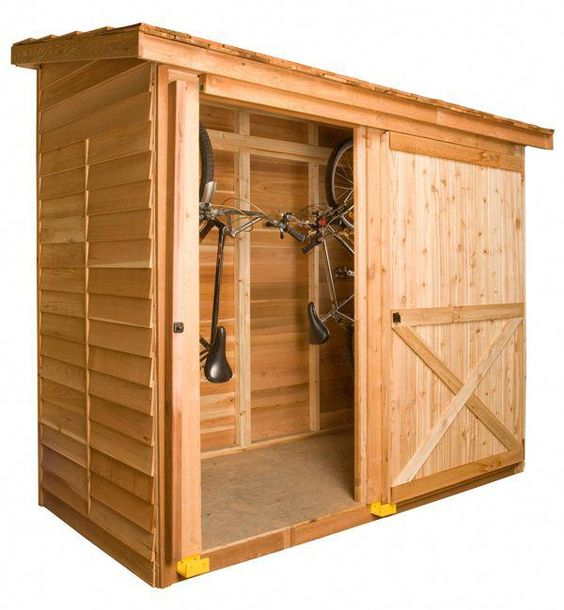 The Bayside Shed Makes Great Storage For 2 Bicycles And Fits In Small Spaces Cedarshed Com Backyardshed Cedar Shed Shed Storage Garden Shed Kits